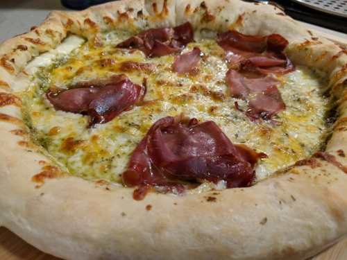 For Super Bowl, I plan to take this recipe up a notch with jalapeños (seeds and all!),sautéed onion, and an all-around cheese-stuffed crust!