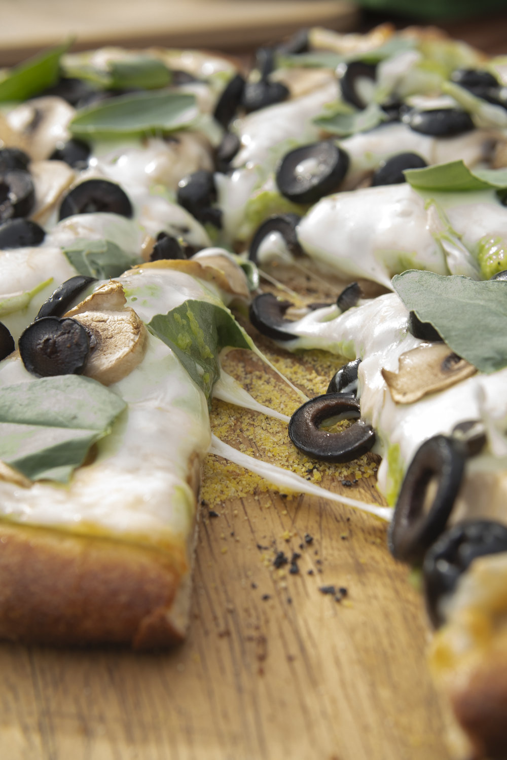 fava bean pesto pizza