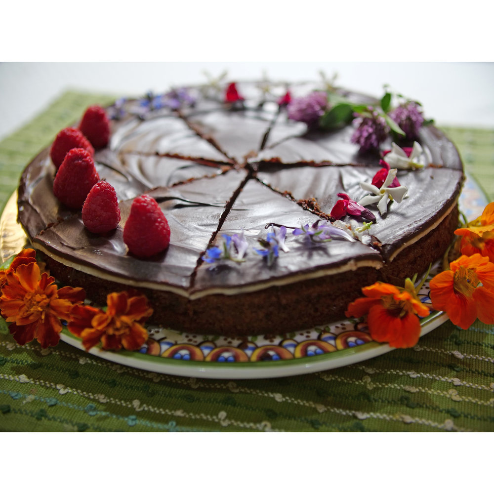 dark chocolate hazelnut marzipan torte