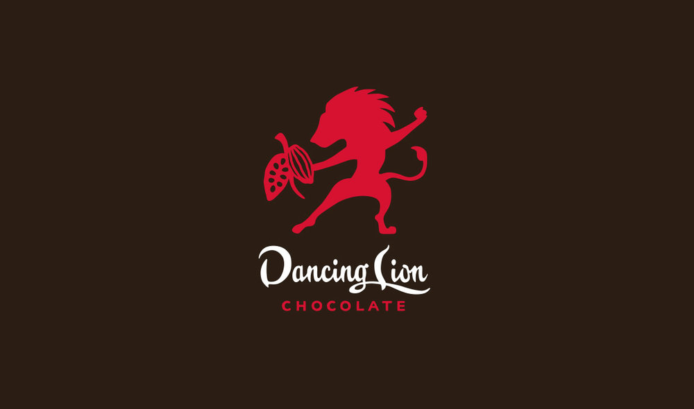 Logo for Dancing Lion Chocolate, a specialty chocolatier based in New Hampshire.