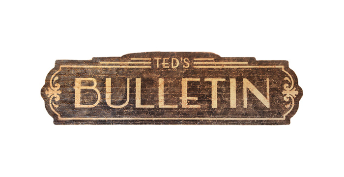 Logo for Ted's Bulletin, a prohibition-era themed restaurant in Washington, D.C.