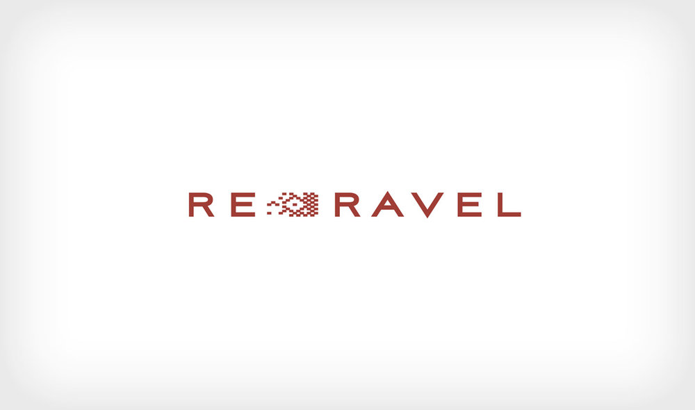 Logo concept for Re-Ravel, a recycled wool paper company.