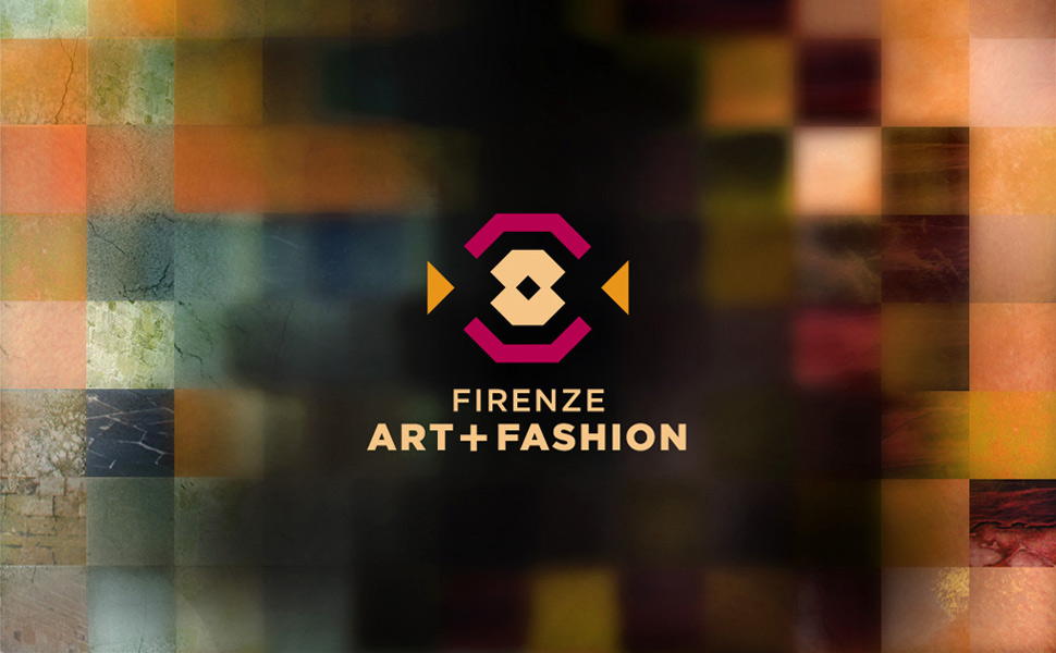 Logo and branding concept for Art + Fashion Design Week events in Florence, Italy.