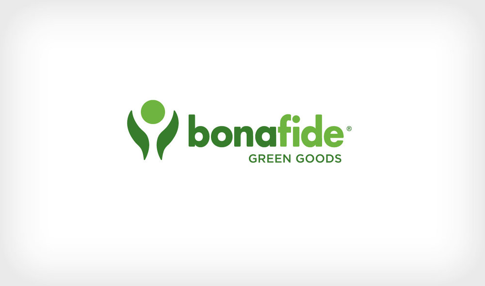 Logo for Bona Fide Green Goods, a small eco-friendly department store.