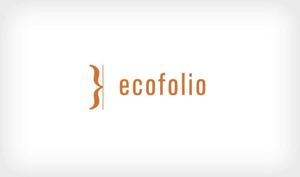 Logo concept for Ecofolio, an environmentally conscious e-reader company.