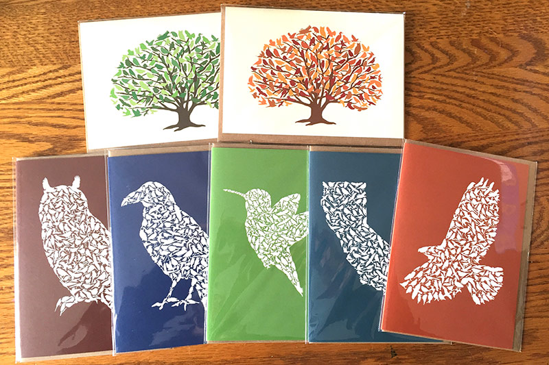 ALICE FROST STUDIO - Alice Frost is inspired by native Californian wildlife to make Nature Silhouette Art featuring hundreds of different species in each design. The images are available on t-shirts, tea towels, tote bags, cards, notebooks and prints.