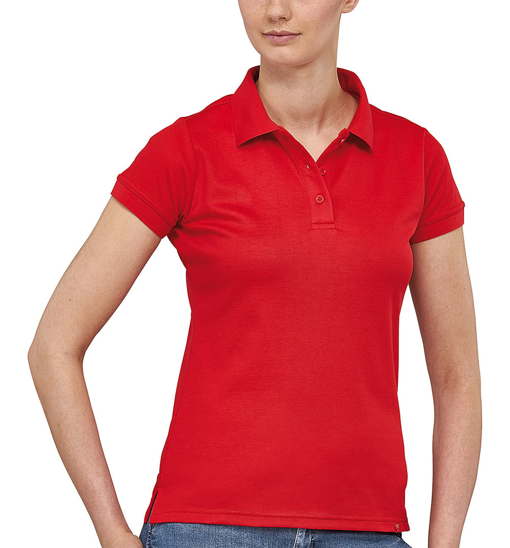 FLASH POWERDRY POLO SHIRT FEMALE FLASHRED