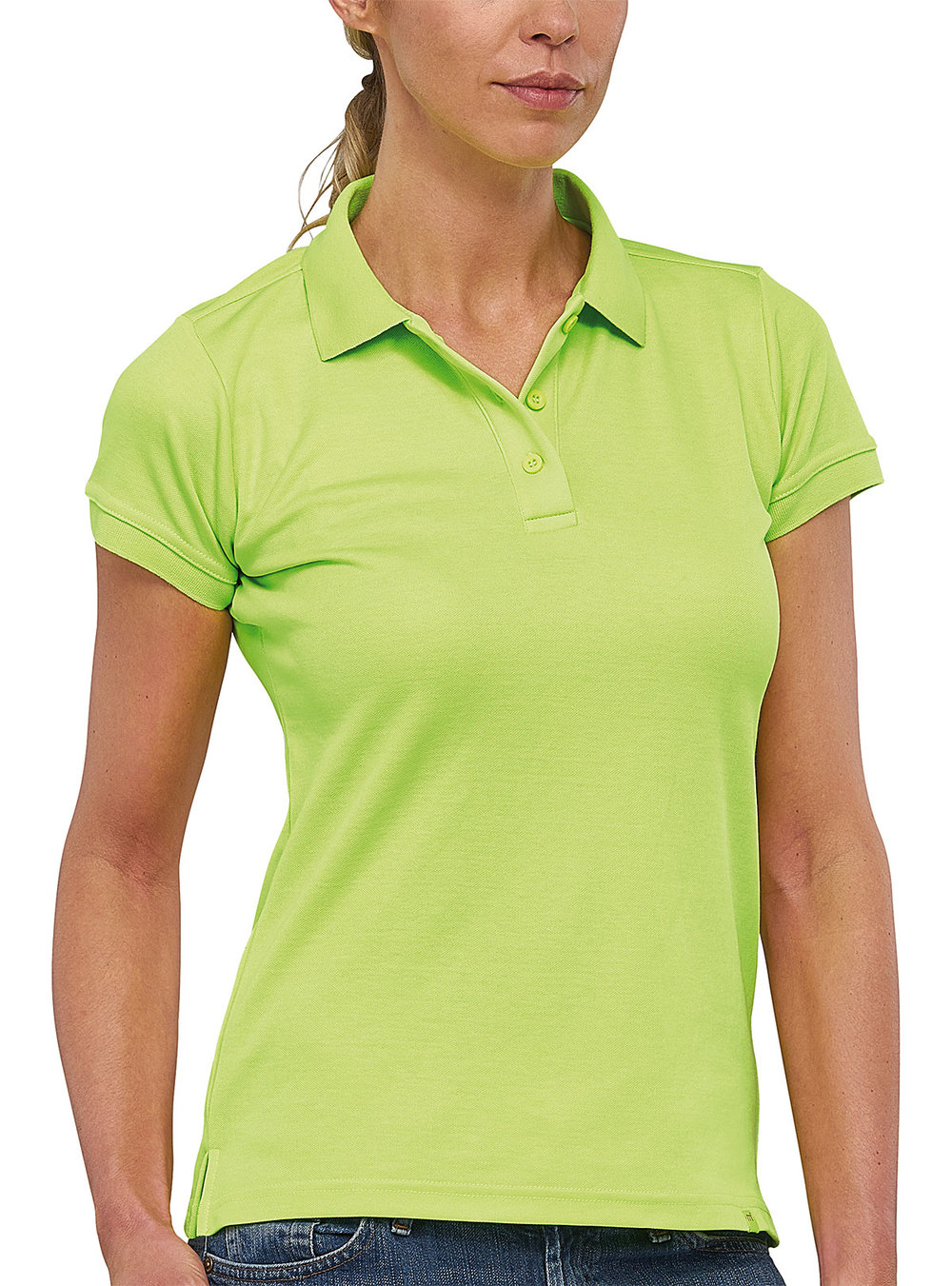FLASH POWERDRY POLO SHIRT FEMALE MACGREEN FLUORESCENT