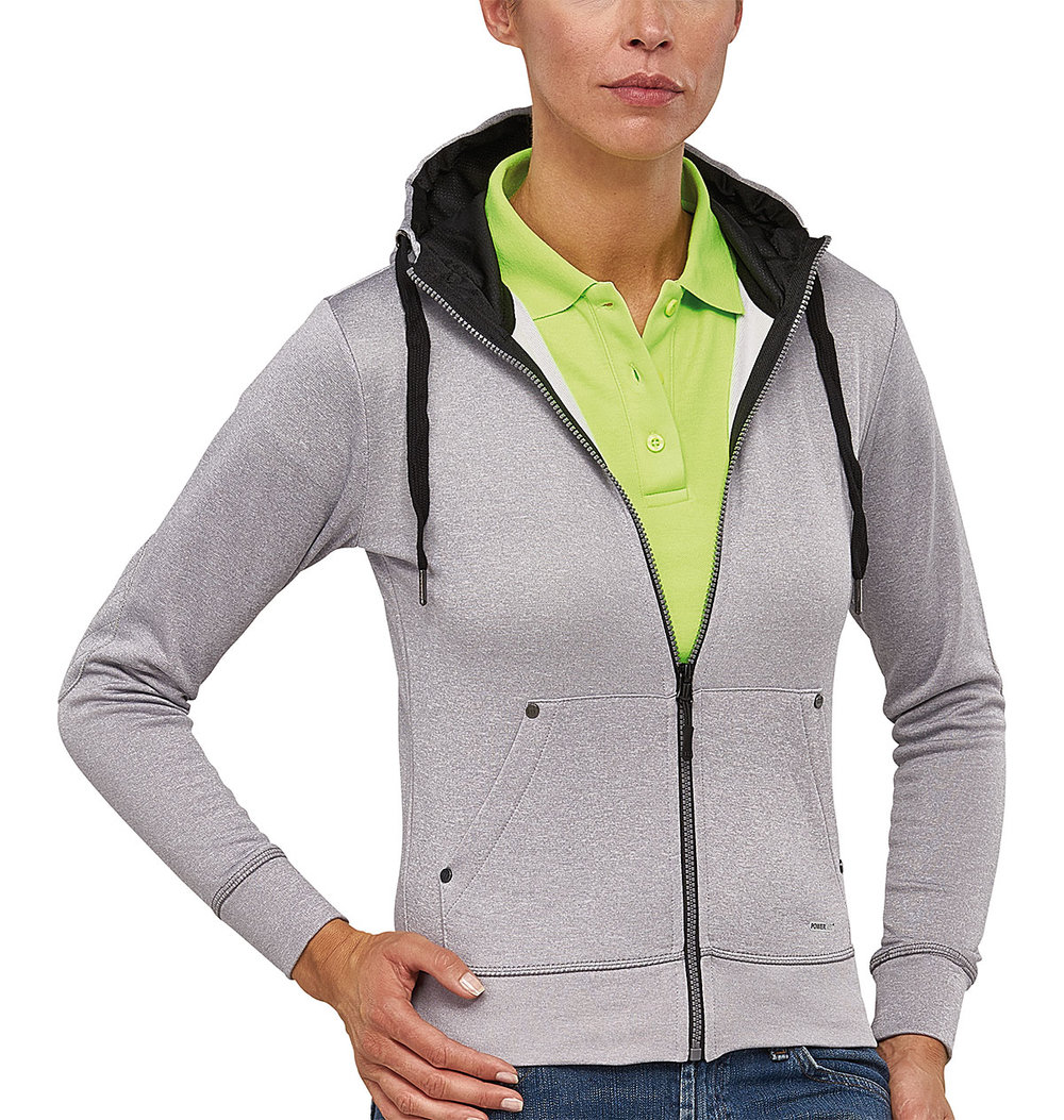 CREATOR POWERDRY HOODED SWEAT FEMALE GREY MELANGE