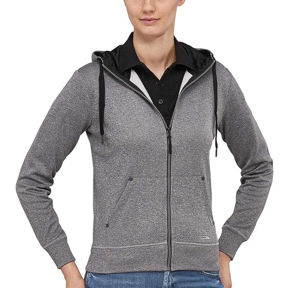 CREATOR POWERDRY HOODED SWEAT FEMALE BLACK MELANGE