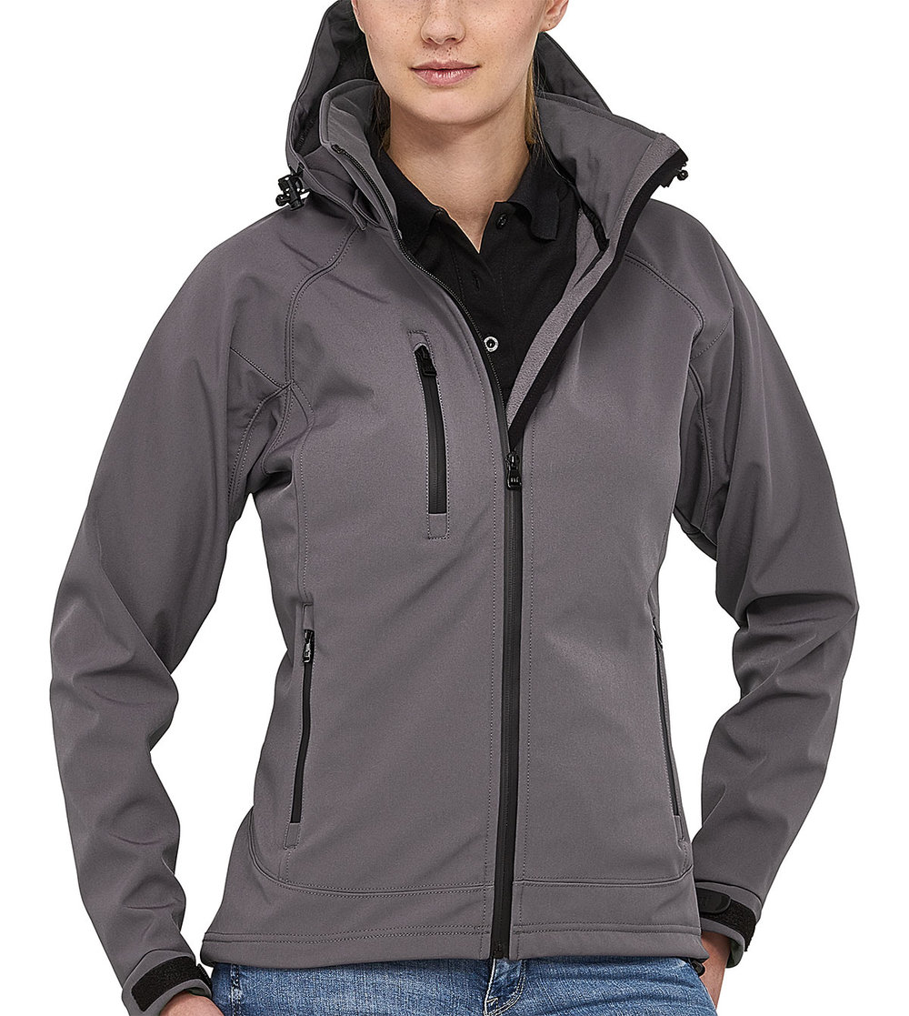 SAFARI PROTECH8000/5000 TECH SOFT SHELL JACKET FEMALE FLASHSTONEGREY/BLACK