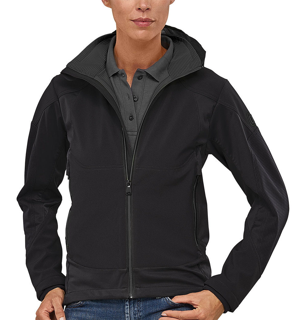 VENTURE PROTECH7000BA SUPER LIGHT TECH SOFT SHELL FEMALE MACBLACK/MACGREY