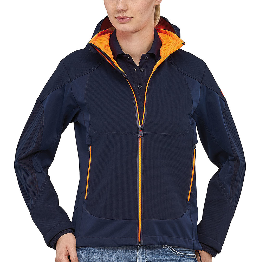VENTURE PROTECH7000BA SUPER LIGHT TECH SOFT SHELL FEMALE MACBLUE/MACORANGE FLUORESCENT