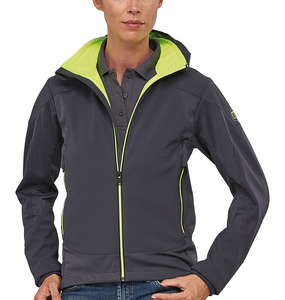 VENTURE PROTECH7000BA SUPER LIGHT TECH SOFT SHELL FEMALE MACGREY/MACGREEN FLUORESCENT