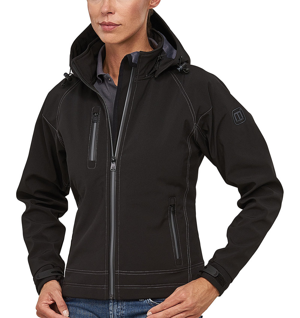 TWOTONE PROTECH8000/5000 TECH SOFT SHELL FEMALE MACBLACK/MACGREY MELANGE