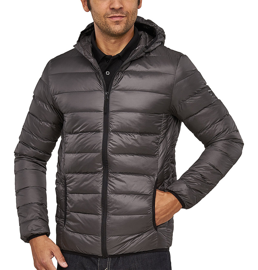 PREDATOR DOWNTECH JACKET MALE FLASHSTONEGREY/MACBLACK TRIM