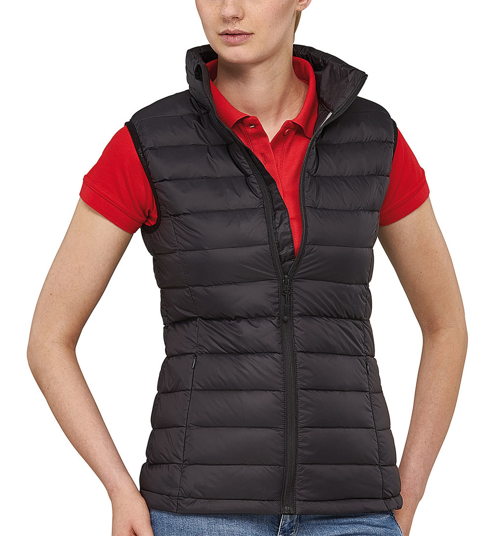 SKY DOWNTECH VEST FEMALE MACBLACK