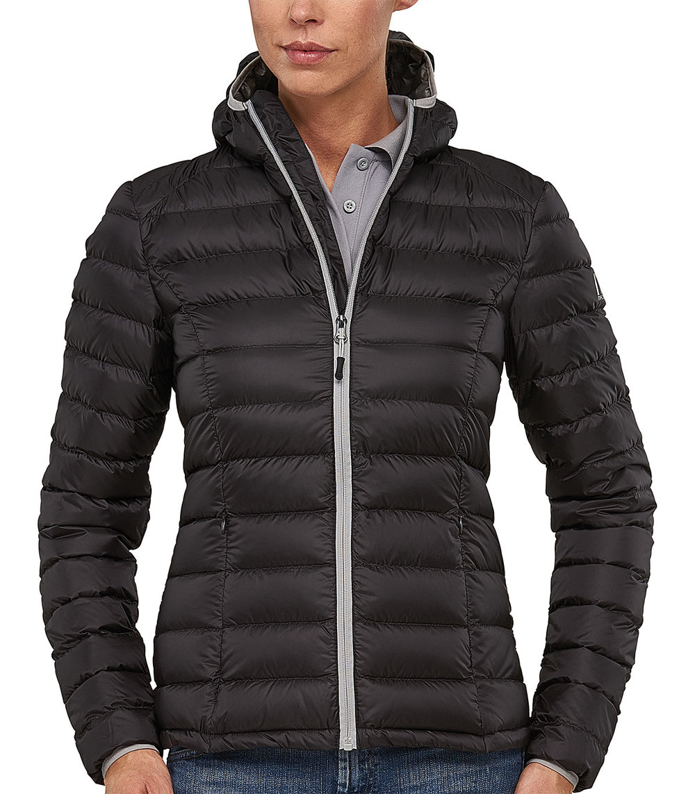 PREDATOR DOWN TECH JACKET FEMALE MACBLACK/SILVER TRIM