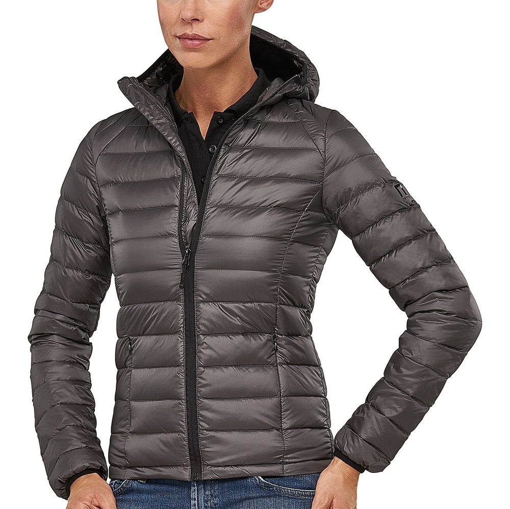 PREDATOR DOWNTECH JACKET FEMALE FLASHSTONEGREY/MACBLACK TRIM