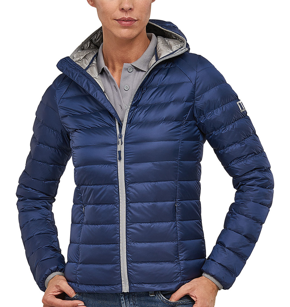 PREDATOR DOWNTECH JACKET FEMALE MACBLUE/SILVER TRIM