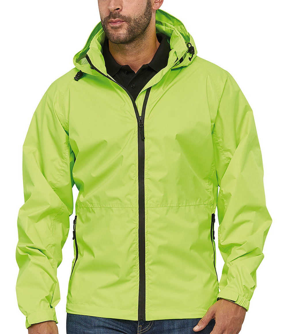 INFINITY RIBTECH5000/5000 SUPER LIGHT TECH RAIN JACKET MALE MACGREEN FLUORESCENT