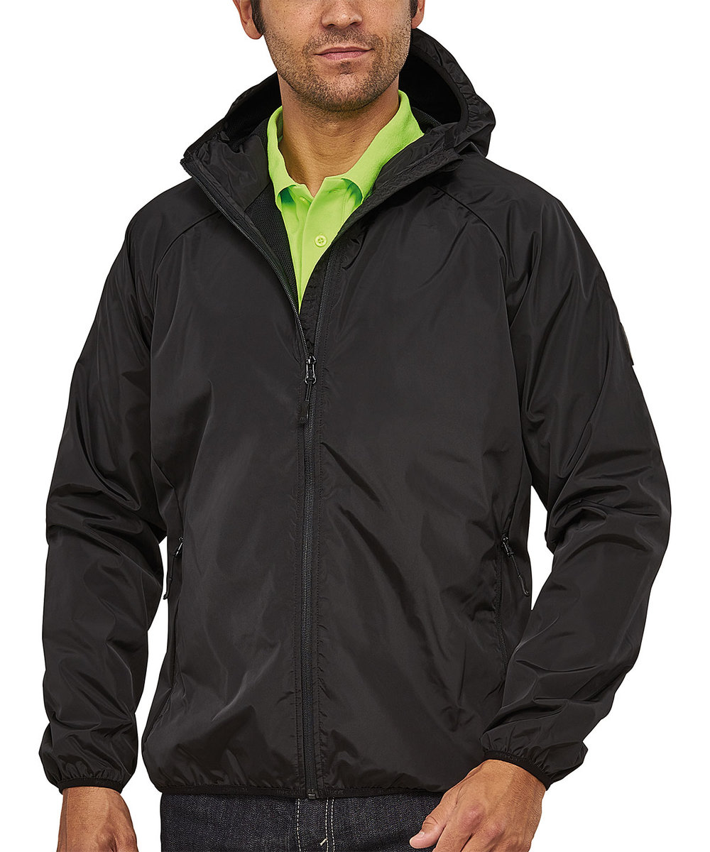 STEALTH BREATHABLE HOODED TECH WINDBREAKER MALE MACBLACK