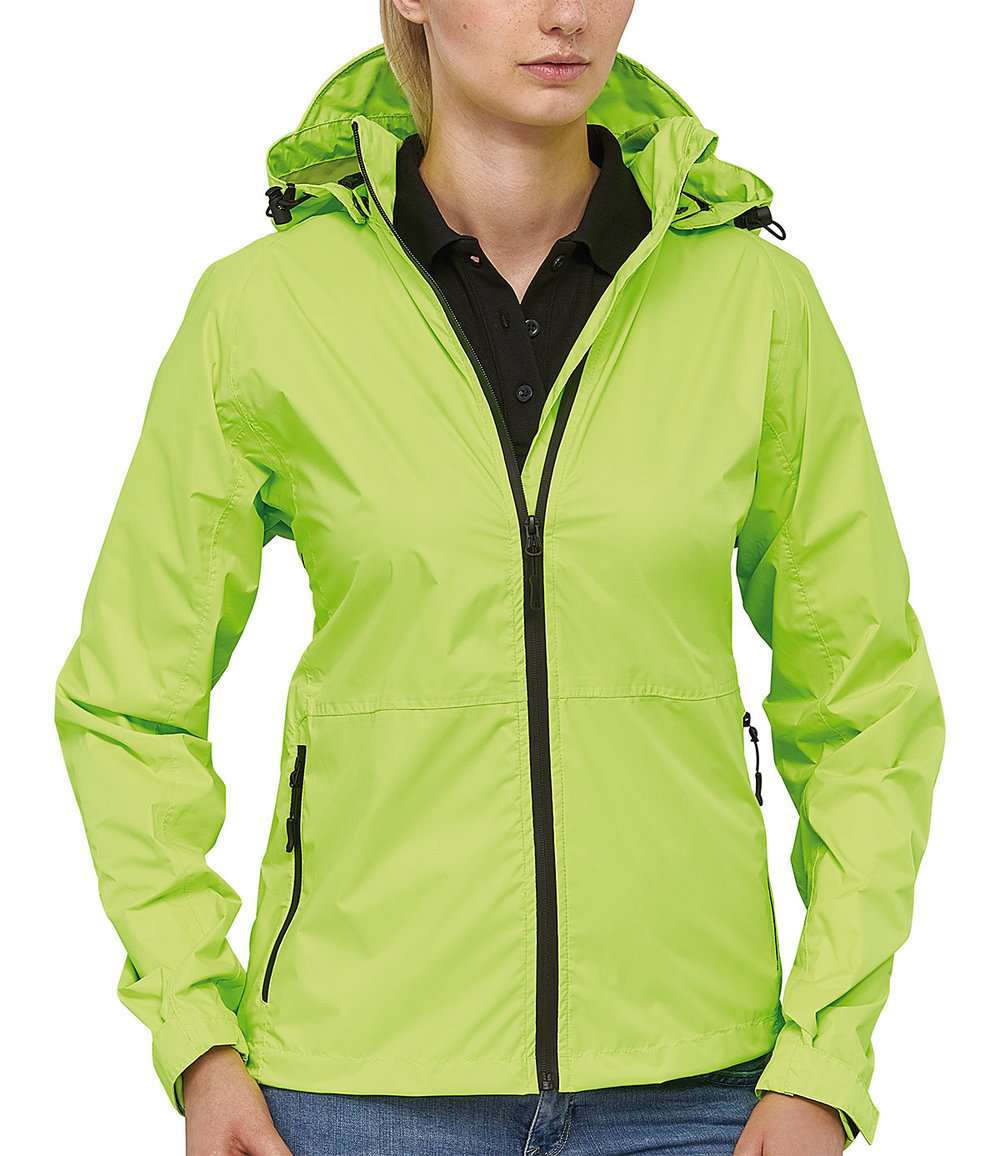 INFINITY RIBTECH5000/5000 SUPER LIGHT TECH RAIN JACKET FEMALE MACGREEN FLUORESCENT