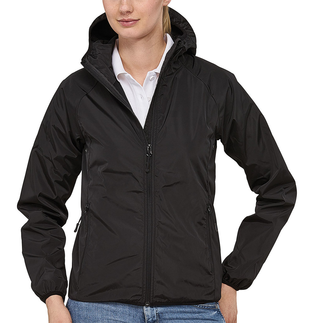 STEALTH BREATHABLE HOODED TECH WINDBREAKER FEMALE MACBLACK