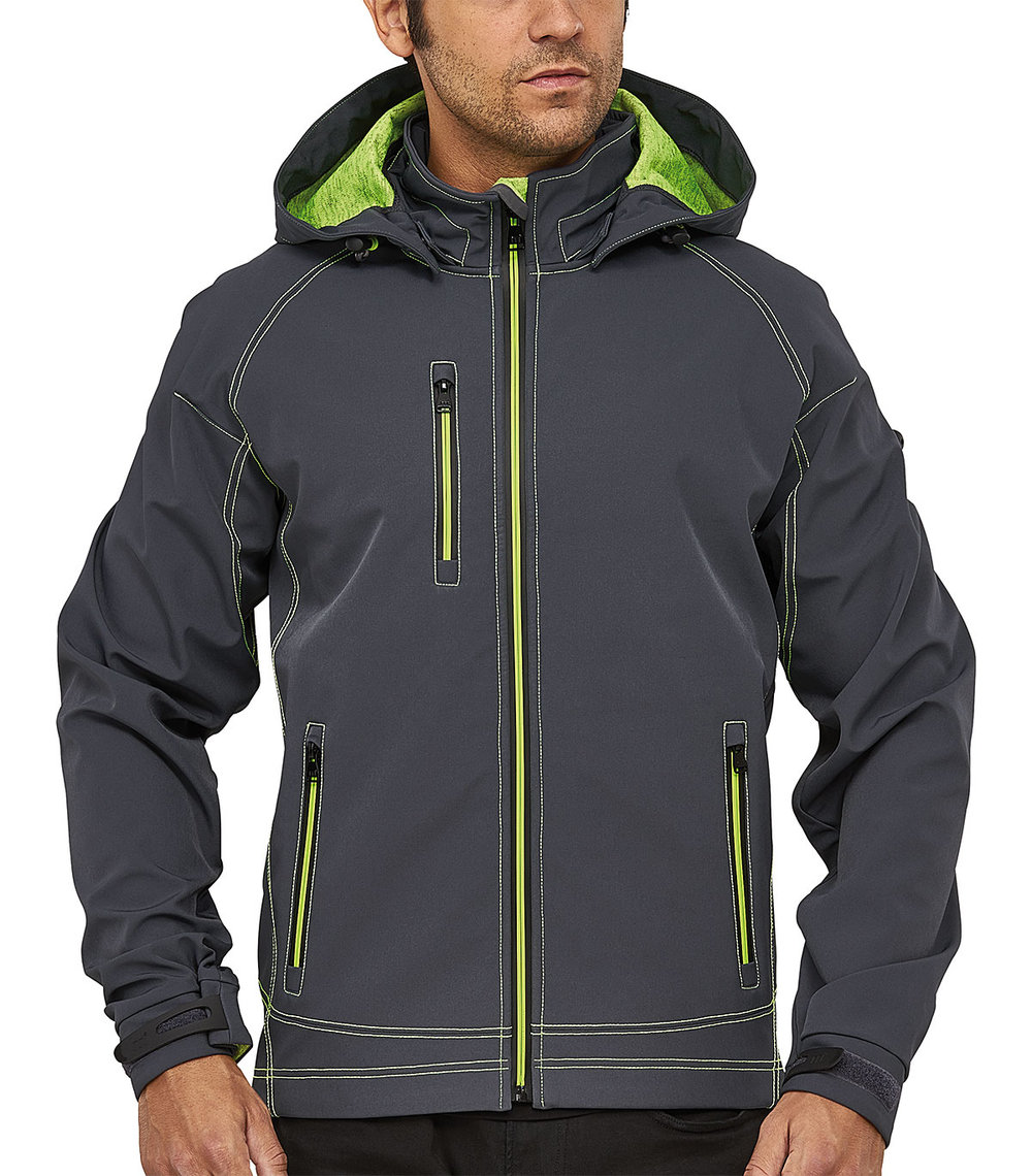 TWOTONE PROTECH8000/5000 TECH SOFT SHELL MALE MACGREY/MACGREEN FLUORESCENT MELANGE