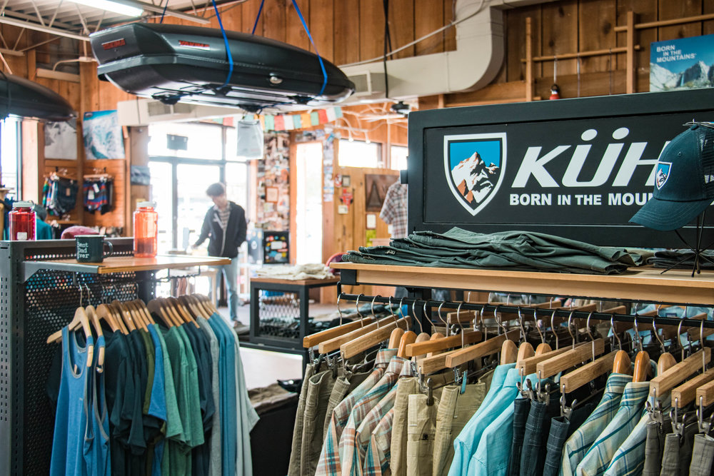 Our recommendation - If you are planning anything from a day hike to a month long back packing adventure swing by the shop and let their staff know what you're wanting to do. They are super familiar with the brands and products that they carry and can help get you setup with everything you need.