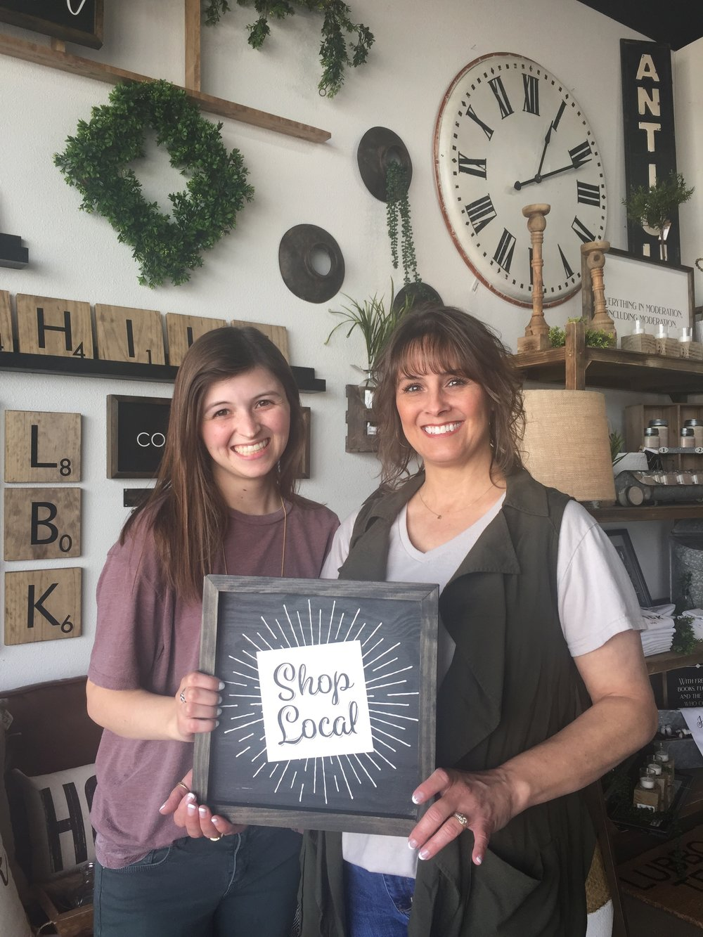What local and independent means to Kenzie - Our favorite part about being a Lubbock business is growing our relationships with our customers! It's so awesome to see people coming back time after time! It's exciting to see their houses become homes (as cheesy as that sounds, it's true)! Especially when you see the products we've handpicked become part of their stories!