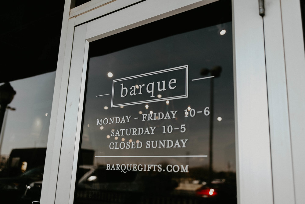Store info - Phone - 806-785-1195Location - 4505 98th Street, Suite 170Social -FacebookInstagramWebsite -  www.barquegifts.com Store Hours -Monday – Friday 10 am – 6 pmSaturday10 am – 5 pm