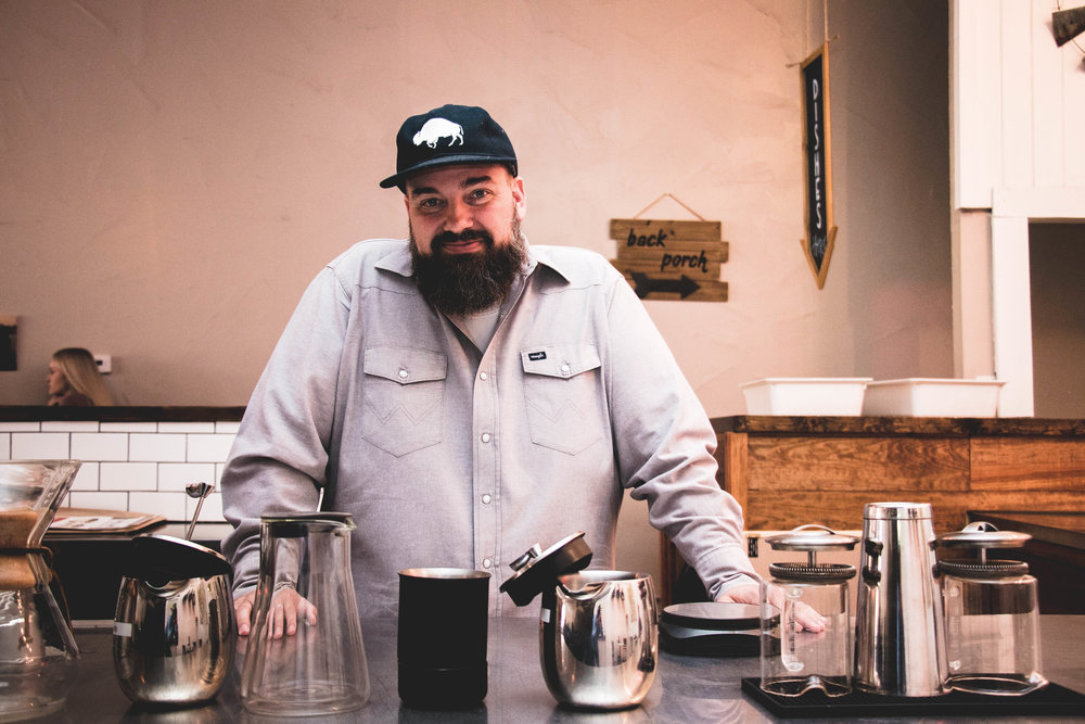 What local and indepentent means to Justin - Justin and his family specifically chose to open up shop in the Heart of Lubbock neighborhood to impact this city and create opportunity for positive change and life to be brought back to this historic neighborhood.