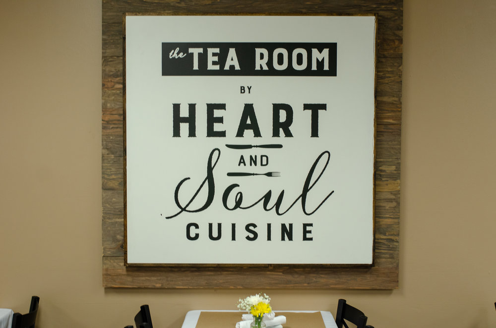 About The Tea Room by Heart and Soul Cuisine - Heart and Soul Cuisine is all about cooking and serving others from the heart. They truly show love for our community through their food. They love to use fresh, quality ingredients to make delicious food that people from all walks can enjoy.