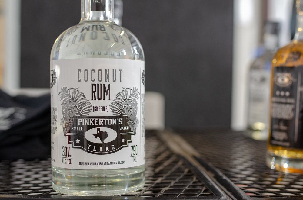 About Pinkertons Distillery - Pinkerton's Distillery is Lubbock's first distillery which produces a Platinum, Gold, and Coconut Rum.