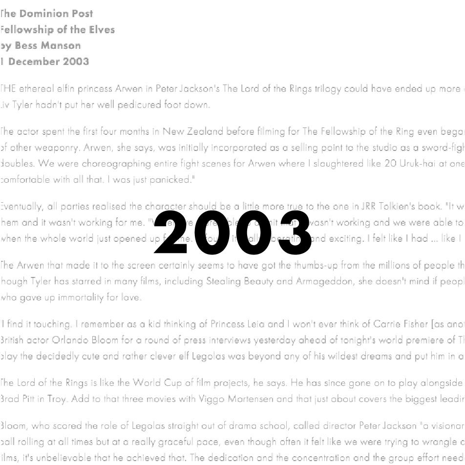 Press — 2003 — MARGARET HEMA