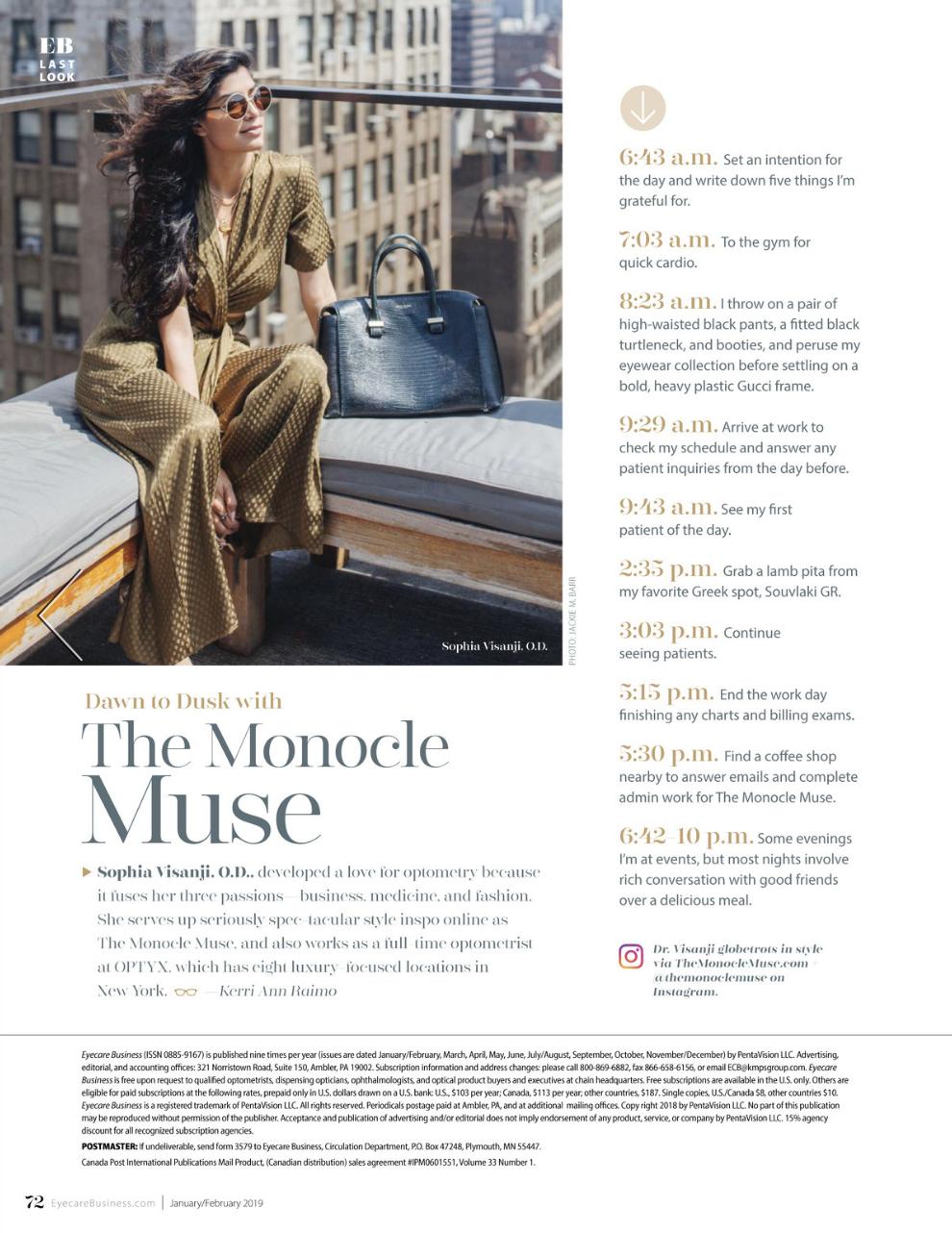 Eyecare Business Magazine feature, January/February 2019 issue