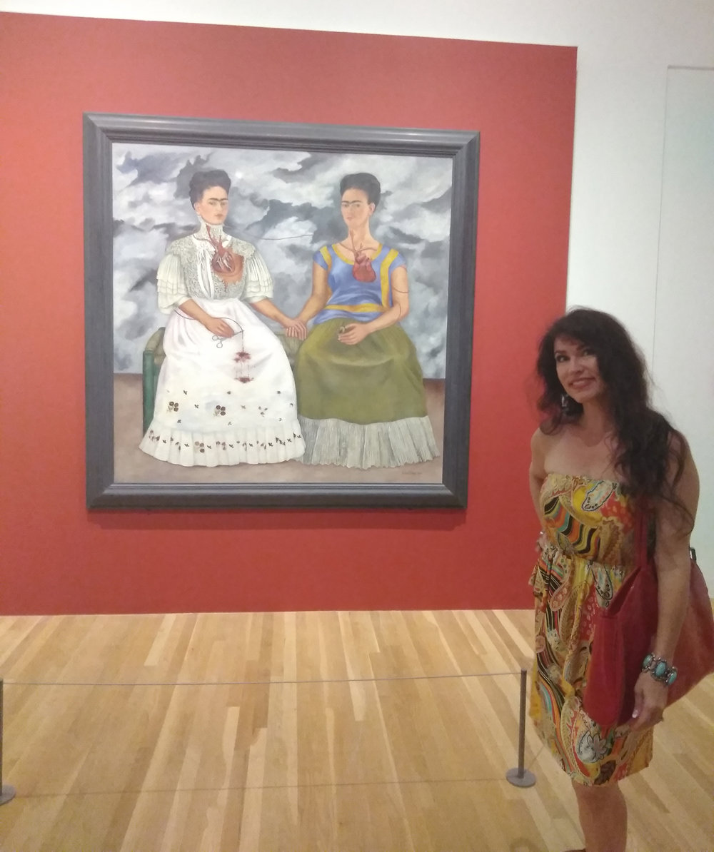 """""""Two Fridas"""". THIS PAINTING!!! I got chills. It's just perfect."""