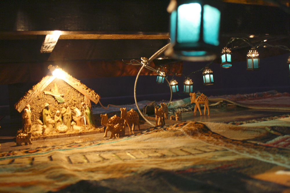 Oasis nativity under the bed.