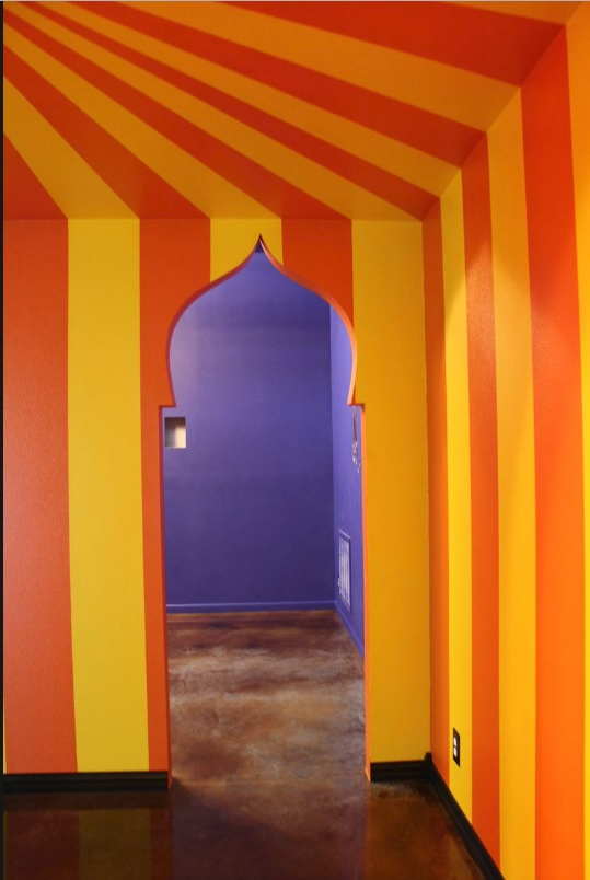 The doorway to the Arabian Nights Room.