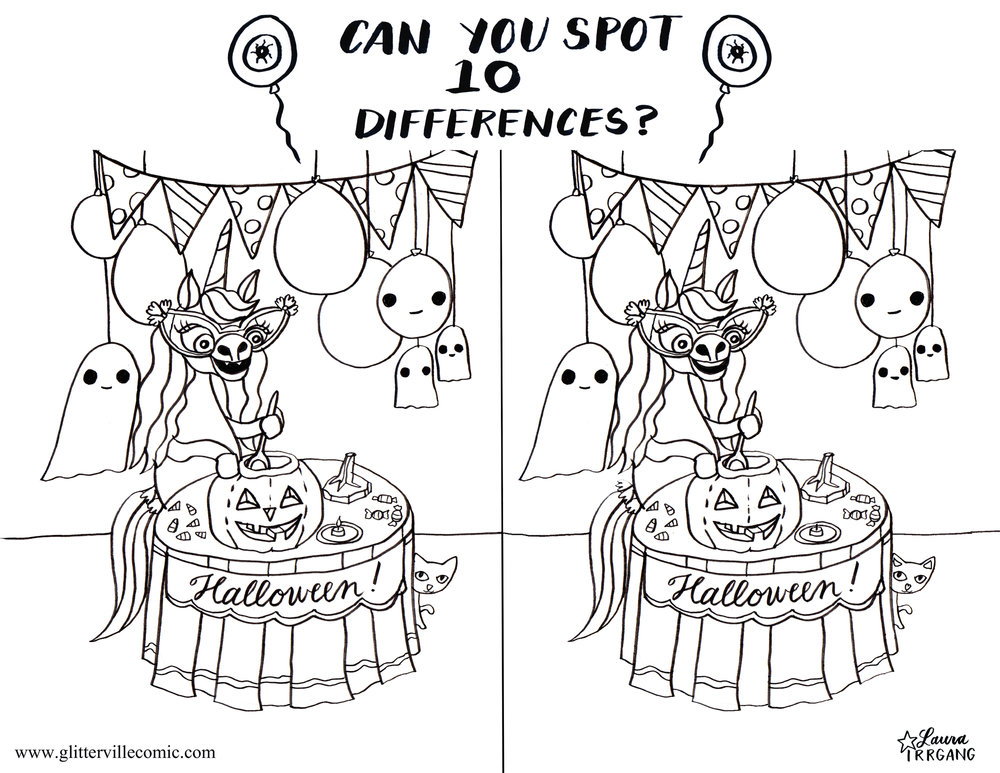 Find the differences Halloween Eunice b & w.jpg