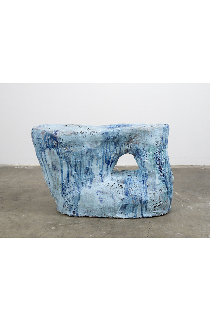 Blue Rock Blob , 2015  ceramic  17-1/2 x 31 x 15 inches