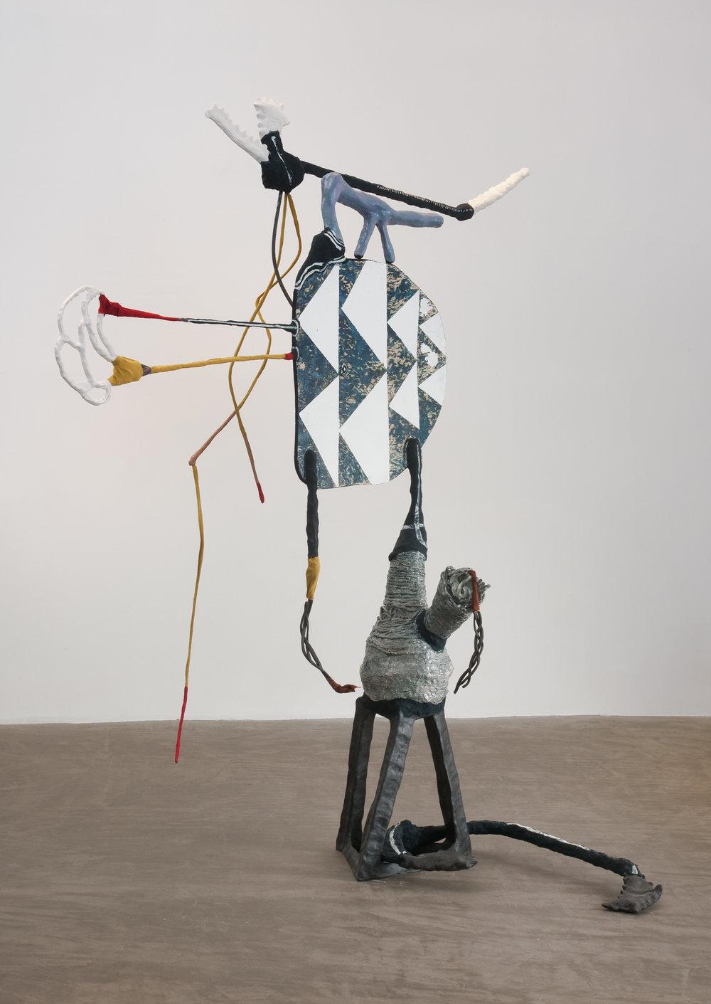 Dark Trees, 2013  porcelain, black clay, glaze, Magic Sculpt, silk, steel, wood, Flashe 80 x 90 x 52 inches