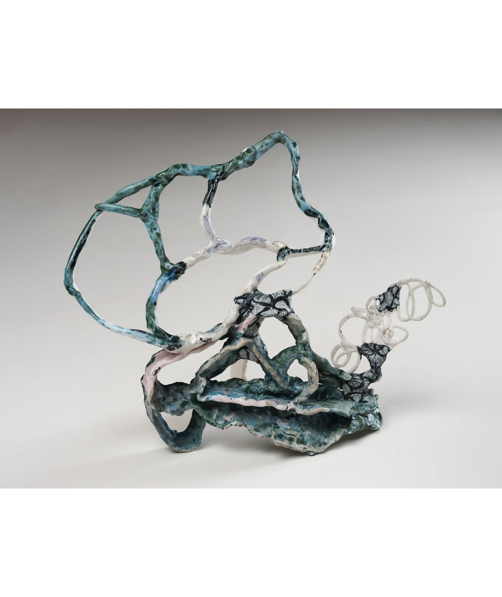 North Cloud , 2013 porcelain, glaze, epoxy resin, ink 13.5 x 14.5 x 7 inches