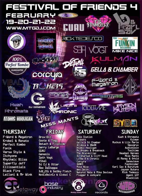 Event_MTG_FOF4_2015-02-19, #JuiceRecordings, #ItsWesSmithYo, #WesSmith, #TheJuiceSquad, #StickyBumps, #BringBackThatFunk, #Califunkya, #CampCharlie, #EDM, #UDM, #Bass, #Funk, #Breaks, #Breakbeat, #Garage, #2step, #UK, #FutureGarage #USA, #California, #SanDiego, #MTG, #MonkeyTennisGroup, #FestivalOfFriends, #PerfectKombo, #MikeNice, #AtomicHooligan, #DJChronic, #Fonik, #KarlSav