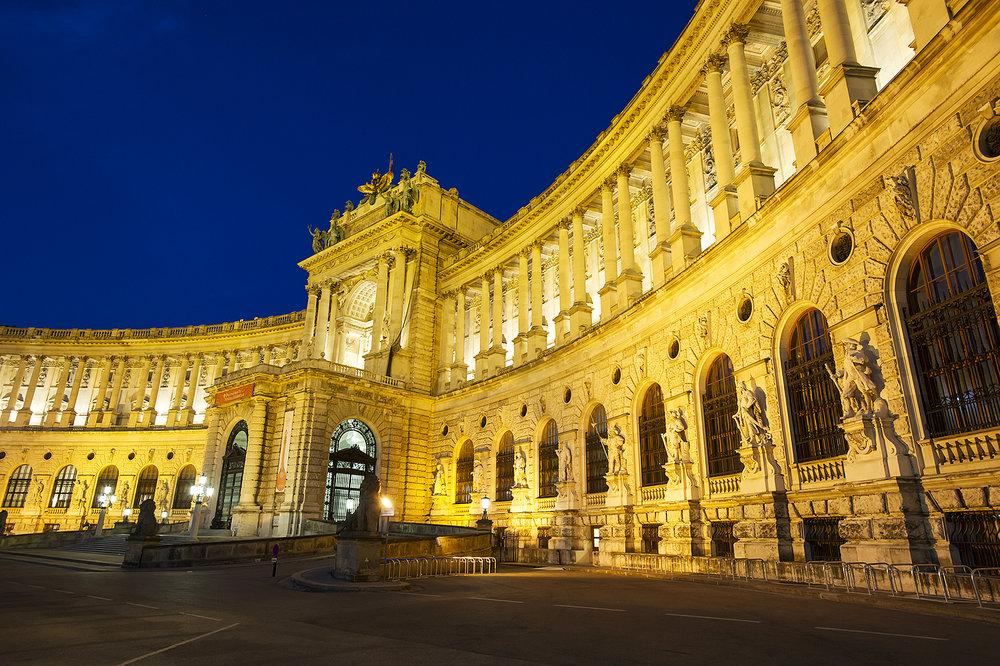 Blue hour, Vienna, Austria