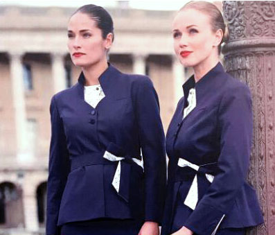 Kuwait Airways - Cabin crew seen here in their new uniform