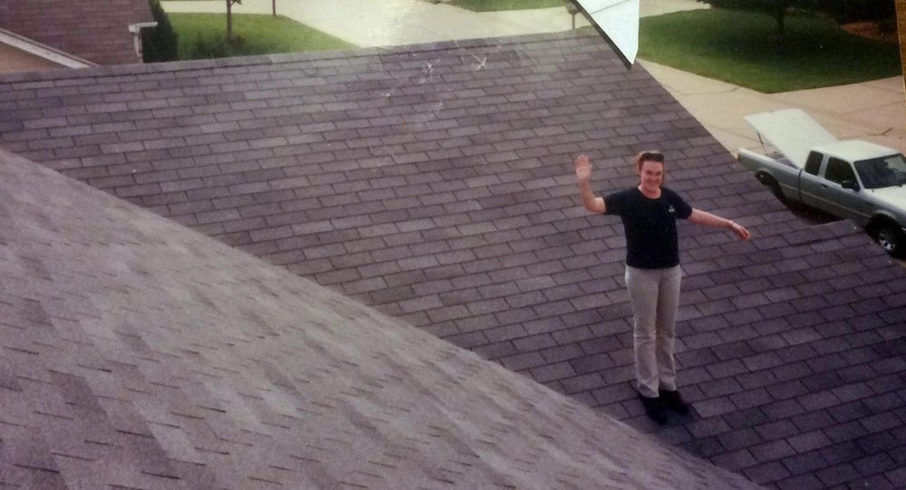 yep, that is me on a roof in st. louis, mo