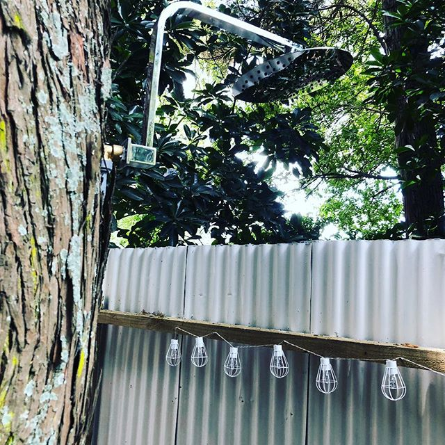 Just putting the finishing touches to our shower in the trees #GlampingintheVines #glamping #hawkesbaynz