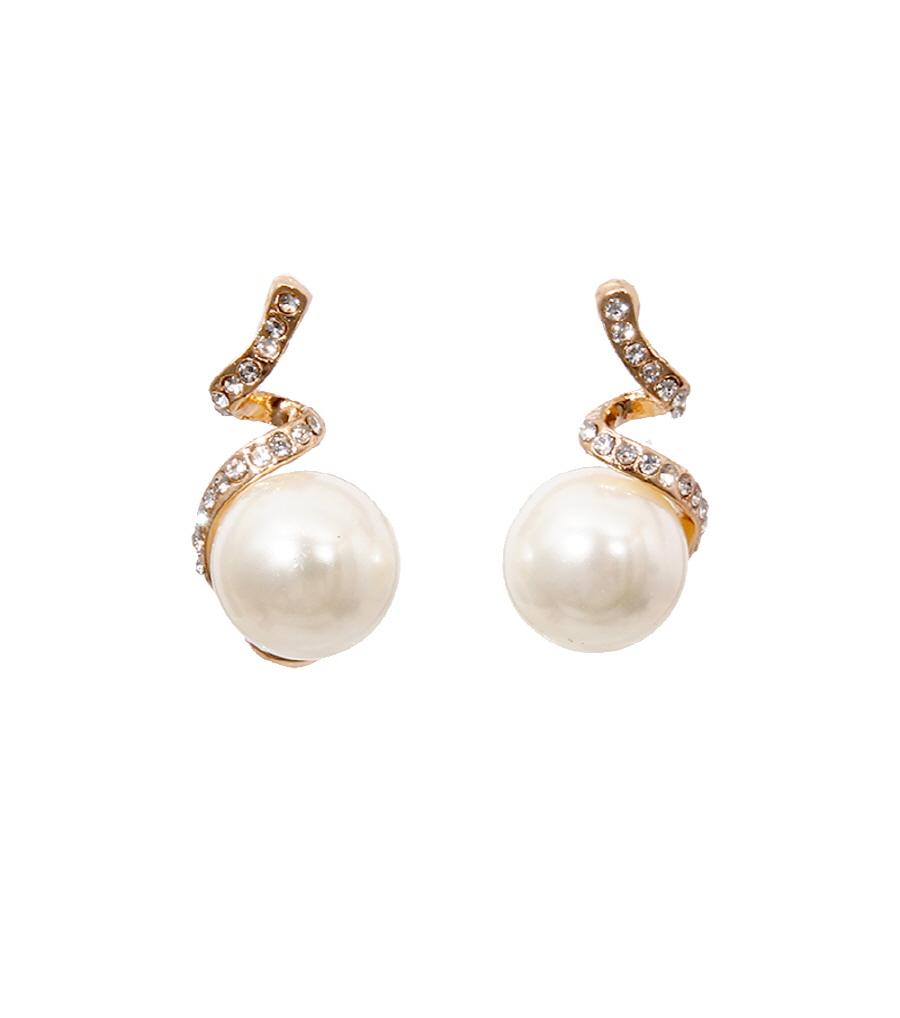 Pearl Drop Earring  CYE12CREGD Pinktown 1.jpg